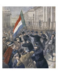 Ireland, Demonstration Against Chamberlain, Illustration from Le Petit Journal, 31st December 1899 Giclee Print by Oswaldo Tofani