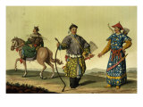 Mongolian Eight Flags Soldiers from Ching's Military Forces, engraved by A. Rancati Giclee Print by Antonio Rancati