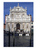 View Across the Grand Canal towards the Church of the Scalzi Giclee Print by Giuseppe Sardi