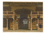Interior of Bodleian Library, Illustration from 'History of Oxford', engraved by Joseph Stadler Giclee Print by Augustus Charles Pugin