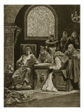 Murderers of Becket Depart on Errand, Illustration from &#39;Hutchinson&#39;s Story of British Nation&#39; Giclee Print by Richard Caton Woodville