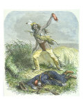 Indian Scalping the Dead Enemy, 1867 Giclee Print by Ange-Louis Janet