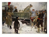 Arresting Generals During the Revolution in February 1917 Gicl&#233;e-Druck von Ivan Alexeyevich Vladimirov