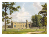 View of the Southern Schools and Dormitories of Rugby School from the Playground, from 'History of  Reproduction procédé giclée par William Westall