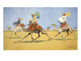Cup and Ball-The Camel's Favourite Game, from 'The Light Side of Egypt', 1908 Giclee Print by Lance Thackeray