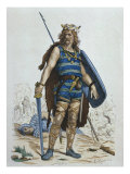 Frankish Warrior in 5th Century, Illustration from 'Costumes de Paris a travers les siecles' by H.  Giclee Print by Francois Edouard Zier