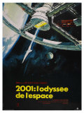 2001: A Space Odyssey, French Movie Poster, 1968 Giclee Print