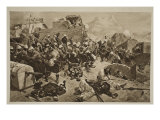 Candahar: the 92nd Highlanders and the 2nd Gurkhas Storming Gaudi Mullah Sahibdad Giclee Print by Richard Caton Woodville