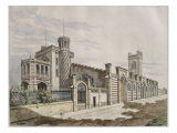 Storehouse of Madame Veuve Pommery Champagne in Reims, Illustration, 'Le Moniteur Des Architectes' Giclee Print by Georges Felix Garen