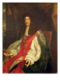 Portrait of King Charles II, c.1660-65 Reproduction procédé giclée par John Michael Wright