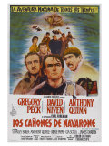 The Guns of Navarone, Argentine Movie Poster, 1961 Prints