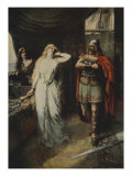 The two stood silent looking at each other, from 'The Stories of Wagner's Operas' Giclee Print by Ferdinand Leeke