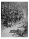 Thomas J. 'Stonewall' Jackson Mortally Wounded in Left Arm at Battle of Chancellorville, Virginia Giclee Print by Allen Carter Redwood