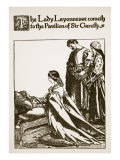 Lady Layonnesse to Sir Gareth Pavilion, Illustration, The Story of Sir Launcelot and His Companions Giclee Print by Howard Pyle