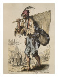 Captain of Bohemians, after Jacques Callot Giclee Print by Albert Charles August Racinet