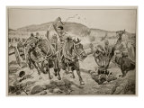 Before Ladysmith - Horse Artillery Galloping to Take Up a New Position, 1899 Giclee Print by Richard Caton Woodville