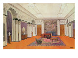 Salon for an Ambassador, Project for the Exposition des Arts Decoratifs in 1925 Giclee Print by Henri Rapin