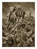 Crusaders Storming the City of Tyre Giclee Print by Stanley L. Wood