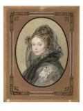 Portrait of Alexandra Grigorievna Muravyova Giclee Print by Pyotr Fyodorovich Sokolov