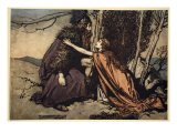 Father! Father! Tell me what ails thee', illustration from 'The Rhinegold and the Valkyrie', 1910 Giclee Print by Arthur Rackham