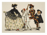 Comedie Italienne, 1918 Giclee Print by Konstantin Andreevic Somov