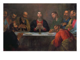 The Last Supper Giclee Print by Antonio Viladomat