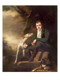 Portrait of Sir Walter Scott and His Dogs Reproduction procédé giclée par Sir Henry Raeburn