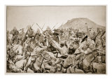 Charge of the 5th Lancers at the Battle of Elandslaagte Giclee Print by Richard Caton Woodville