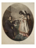 Credulous Lady and Astrologer, Engraved by Pierre Simon Giclee Print by John Raphael Smith