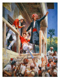 The Afghans kill Sir Alexander Burnes in Kabul, November 1841 Giclee Print by Richard Caton Woodville