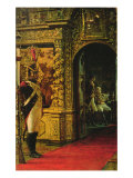 Marshal Davout in the Chudov Monastery, Moscow Kremlin, 1900 Giclee Print by Vasili Vasilievich Vereshchagin