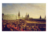 Military Parade During the Coronation of Alexander Ii in Moscow Kremlin on 18th February 1855, 1856 Giclee Print by Gustav Schwarz