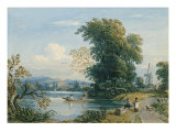 River Scene Giclée-Druck von John Varley