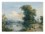 River Scene Giclee Print by John Varley