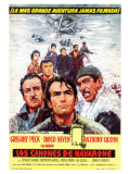 The Guns of Navarone, Spanish Movie Poster, 1961 Giclee Print