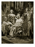 The Coronation of Edward Ii, 1308, Illustration from 'Hutchinson's Story of British Nation', C.1920 Giclee Print by Richard Caton Woodville