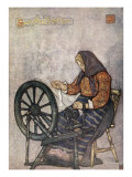Woman Spinning, Sundalsoren, 1905 Giclee Print by Nico Jungman
