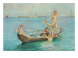 August Blue Giclee Print by Henry Scott Tuke