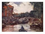 The Fish-Bridge, Leiden, 1904 Giclee Print by Nico Jungman