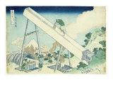 The Carpenters, 1729 Giclee Print by Katsushika Hokusai