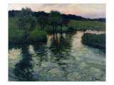 Landscape with a River Giclee Print by Fritz Thaulow