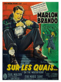 On the Waterfront, French Movie Poster, 1954 Giclee Print