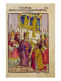 Pope Martin V gives Sigismund the Symbolic Gift of Golden Rose at Council of Constance Giclee Print by Ulrich Von Richental