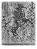 The Hunts of Maximilian, Capricorn, the Boar Hunt, Detail of Maximilian I Giclee Print by Bernard van Orley