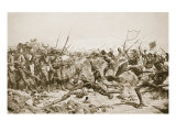The Battle of Abu Klea, 17th January 1885, Illustration from &#39;Hutchinsons History of the Nations&#39;,  Giclee Print by William Barnes Wollen