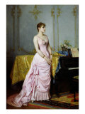 Portrait of Rose Caron Giclee Print by Auguste Toulmouche