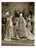 Papal Legate Tramples on John&#39;s Tribute, Illustration from &#39;Hutchinson&#39;s Story of British Nation&#39; Giclee Print by Richard Caton Woodville