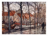 The Harbour, the Hague, 1904 Giclee Print by Nico Jungman