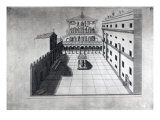 The Belvedere Court in Old St. Peter's Rome Giclee Print by Giovanni Battista Piranesi
