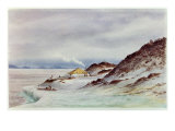 Hut Point, McMurdo Sound, 7th April 1911 Giclee Print by Edward Adrian Wilson